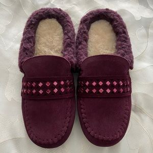 Bearpaw Tilley Slipper sz 7 eggplant